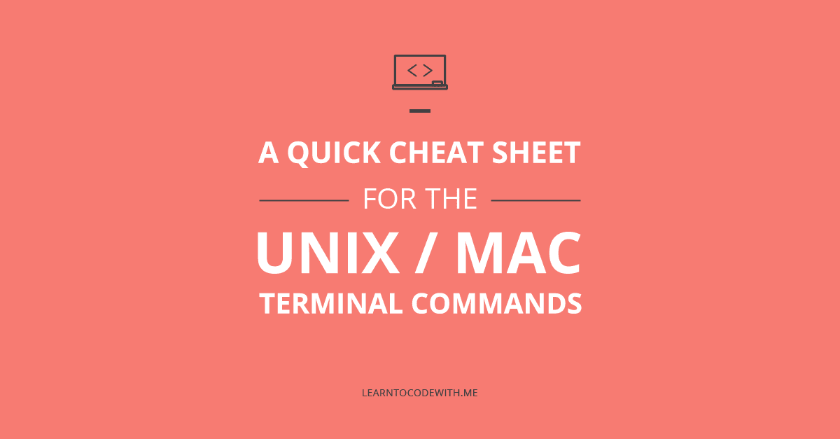 Unix commands cheat sheet
