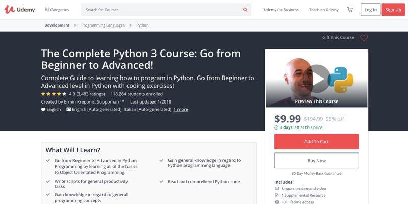 The Complete Python 3 Course
