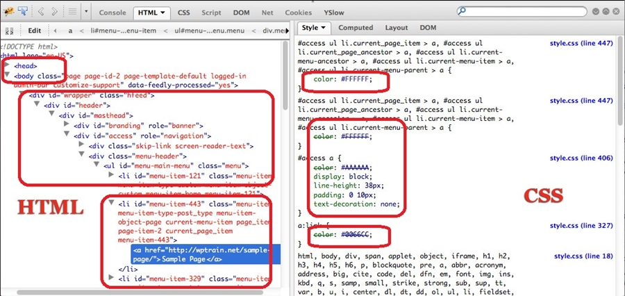 HTML and CSS working together