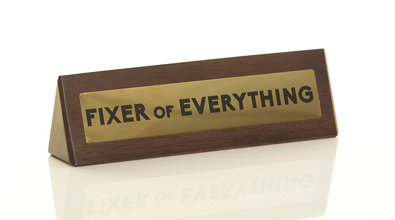 fixer of everything novelty wooden warning design